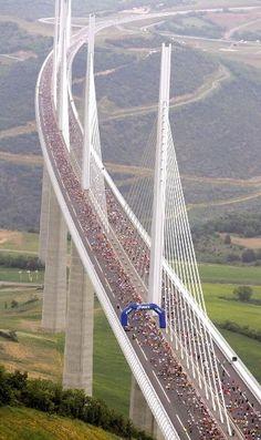 The world's tallest bridge, Southern France
