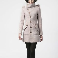 Military Cape Coat Pink by FM908 | Fab.com