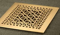 10x12 Solid Brass Renaissance Floor Register