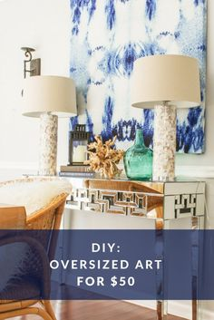 What a great way to make the perfect sized art for any space. Because you use fabric, the possibilities are unlimited. You can even find a nice lake inspired them for your Lake Martin home! #wallart #DIYhomedecor #LivingOnLakeMartin