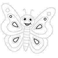 Kiddoland: Uzupełnianka Motylek