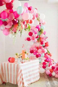 Foil Balloon Table Display Âge 1 1ST Anniversaire Air remplir aucune HÉLIUM Nº 1-Rose