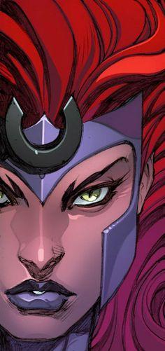 Drawing Marvel Comics Queen Medusa by Joe Madureira Comic Book Artists, Comic Book Characters, Marvel Characters, Comic Books Art, Comic Art, Comic Book Drawing, Comic Book Style, Nightwing, Batwoman