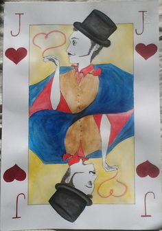 Jack of hearts Watercolor and ink on paper 33x48 (cm)  By Paola Mariolini (2013)
