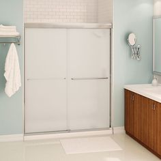 Costco madison shower 10 mm tempered glass reversible for Porte halo 60