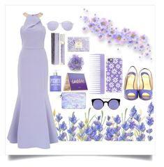 """Looking Lovely In Lavender"" by angelstylee ❤ liked on Polyvore featuring Chanel, Ariella, Christian Louboutin, Quay, Casetify, Conair, tarte, Victoria's Secret PINK, AERIN and Mykita"