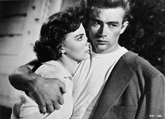 Natalie Wood and James Dean in A Rebel Without a Cause (1955)
