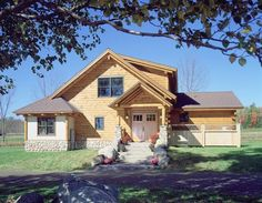 Bungalow-style log home