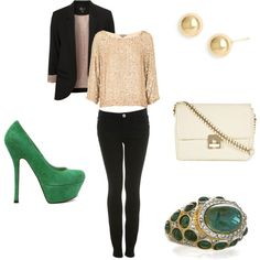 Classy going out outfit.