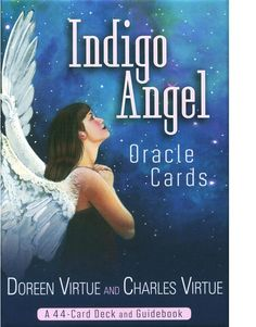 Indigo Angel Oracle Cards by Doreen Virtue & Charles Virtue : Buy Online, Worldwide Shipping #buyindiaglobal #buytarot #tarotonline