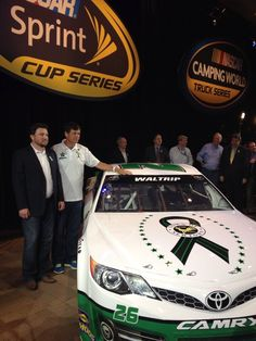 """Michael Waltrip, #26, supports the """"Sandy Hook Support Fund"""" with a new paint scheme for the Daytona 500."""