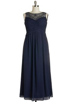 Glitz and Glimmer Dress. Youre sure to turn heads in this navy maxi dress when you step into tonights party! #blue #modcloth