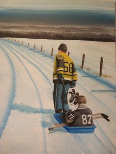 Mario Lemieux and Sidney Crosby. Love this picture...love this !!!