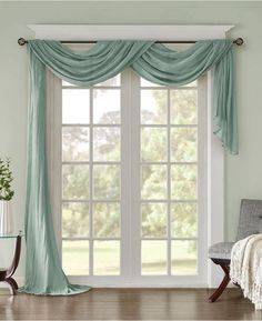 How To Hang A Rod For A Window Scarf Valances Scarfs Curtains