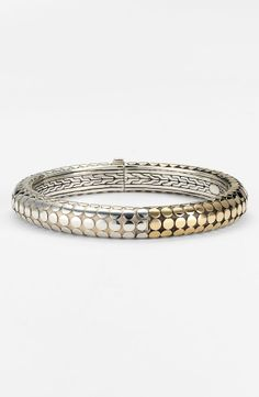 silver  jewelry NORDTRUM | John Hardy 'Dot Gold & Silver' Hinged Bangle by nordstrom