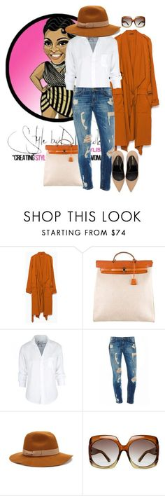 """""""Untitled #2914"""" by stylebydnicole ❤ liked on Polyvore featuring Zara, Hermès, Frank & Eileen, Jigsaw, Tom Ford and Yves Saint Laurent"""