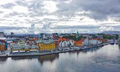 The city of Stavanger seen from the cruise ship the Viking Sky.