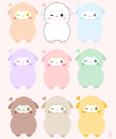 prince-insomniac: Pastel Rainbow Alpaca stickers are available now on my storenvy! Celebrate pride month with these multi colored paca pacas! :-)