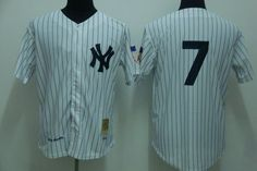 689249110 Number 7 Mickey Mantle Jerseys New York Yankees White Pinstripe t shirts