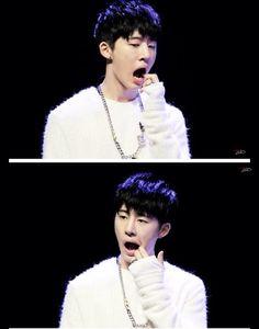Awwwwww so cute #hanbin #B.I