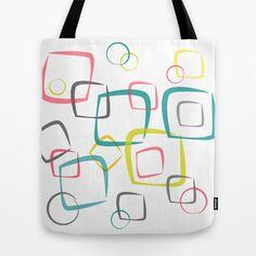 Circles & Squares Tote Bag $22