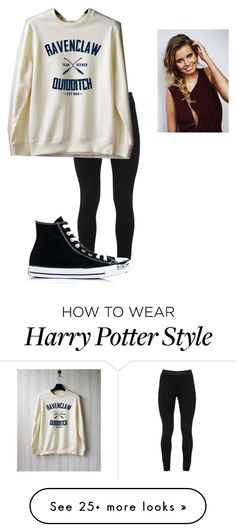 """Quidditch"" by darquesseandvalkyrie on Polyvore featuring Peace of Cloth and Converse"