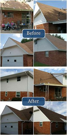 New Siding and Gutters help this home's look and functionality!