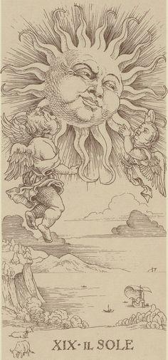 XIX. The Sun: Durer Tarot
