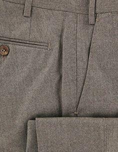 New Luigi Borrelli Light Brown Solid Pants - Extra Slim - 30/46 Mens Dress Pants, Men Dress, Luigi, Khaki Pants, Slim, Brown, Shirts, Khakis, Brown Colors