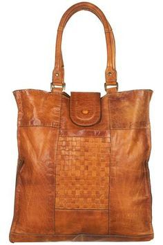 vintage woven leather