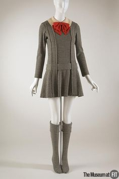 Dress, Rudi Gernreich, fall 1967, American, wool; via Museum at FIT New York
