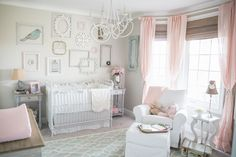 When we found out we were expecting a little girl, I knew exactly what I envisioned for the sweet nursery. All things soft, elegant, and feminine..