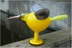 2010, Oiva Toikka, Winged Ibis, Leerdam, unique, experiment/kokeilu Glass Birds, Glass Art, Experiment, Finland, Gift Ideas, Google Search, Yellow, Unique, Dogs
