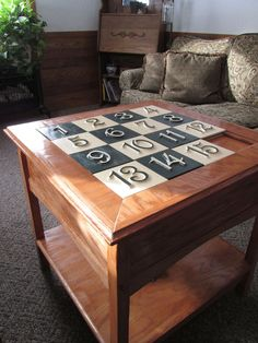 Sliding Puzzle Secret Compartment Table