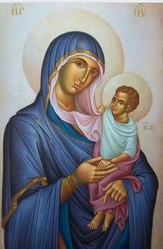 Religious Images, Religious Icons, Religious Art, Image Jesus, Jesus Our Savior, Blessed Mother Mary, Byzantine Icons, Love Mom, Orthodox Icons