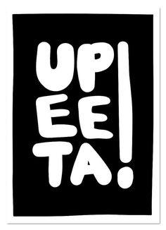 Upeeta (musta) postikortti