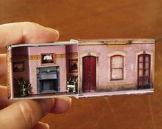 Matchbox House: Miniature Room inside a Matchbox