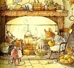 pagewoman:   Brambly Hedge  by Jill Barklem - L'Assommoir