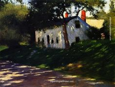 Dennis Miller Bunker Roadside Cottage, Medfield, Mass., painting Authorized official website