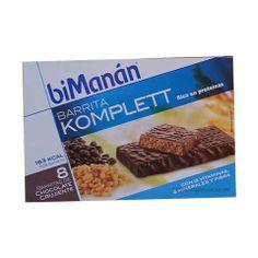 BiManan Komplett barritas chocolate crujiente 8 Unidades