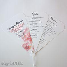 Ohjelmaviuhka www.sarandia.fi Personalized Items, Wedding, Design, Valentines Day Weddings, Weddings, Marriage, Chartreuse Wedding