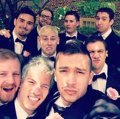 The men of the groom   Michael and Caroline's wedding