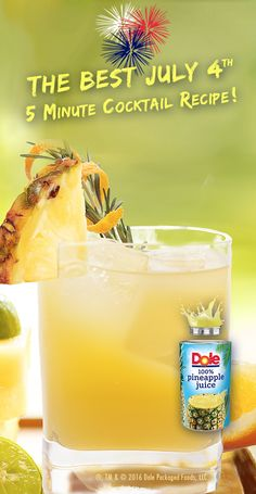 Try this exotic spin on a classic cocktail made with DOLE® Canned 100% Pineapple Juice. #KINGofJUICES