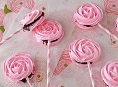 These Meringue Rose Pops Have a Subtle Rose Taste to Them