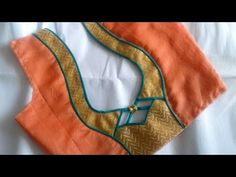 simple and beautiful fancy saree blouse design - Blouse designs Churidar Neck Designs, Saree Blouse Neck Designs, Dress Neck Designs, Sari Blouse, Pattern Blouses For Sarees, Diy Blouse, Gold Blouse, Saree Blouse Patterns, Patch Work Blouse Designs