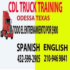 How Much Is Cdl Training In Texas CDL trucking training  Dallas TX  Manual truck reading test suport  2109469841CDL  class A Semi Truck training is Dallas TX,