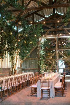 Rustic converted barn into a wedding reception: http://www.stylemepretty.com/2016/10/04/converted-barn-wedding-reception/ Photography: Caroline Tran - http://carolinetran.net/