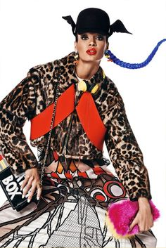 Painting of WInter | Vogue Japan December 2014 | Joan Smalls by Giampaolo Sgura [Editorial]