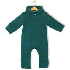 bubble.kid berlin - Unisex Baby Winter Overall ANU, Overall aus Wolle - Tec-Walkwolle aqua