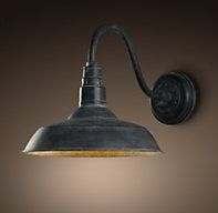 Vintage Barn Sconce - Weathered Zinc